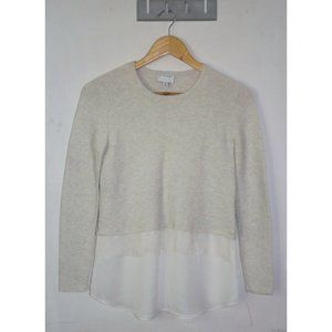 Witchery Knit Sweater Lace Wool Cashmere Blend